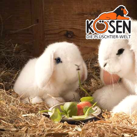[KOESEN ケーセン社]たれ耳うさぎの子 白 6160