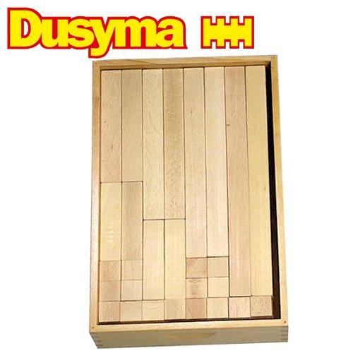 [Dusyma デュシマ社]ウール・レンガ積木 補充用 白木 112ピース