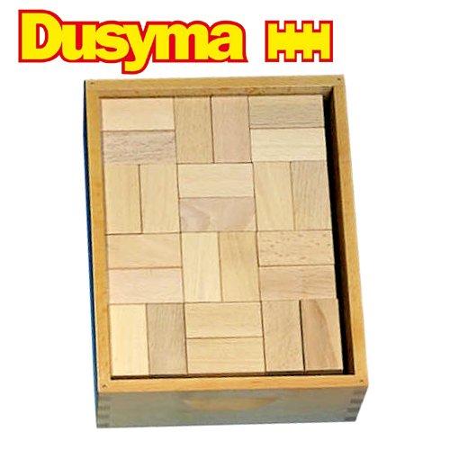 [Dusyma デュシマ社]ウール・レンガ積木 ベーシック 白木 96ピース
