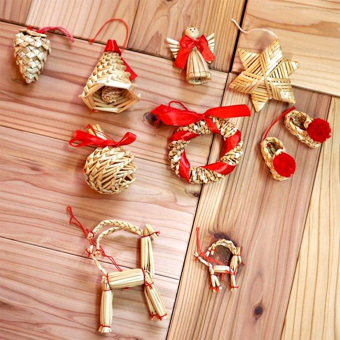 [Kimmerle キマール社]クリスマス ストローオーナメント 松ぼっくり 5cm