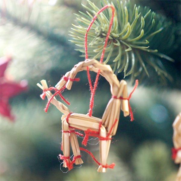 [Kimmerle キマール社]クリスマス ストローオーナメント トナカイ 4cm