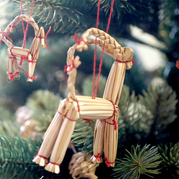 [Kimmerle キマール社]クリスマス ストローオーナメント トナカイ 9cm