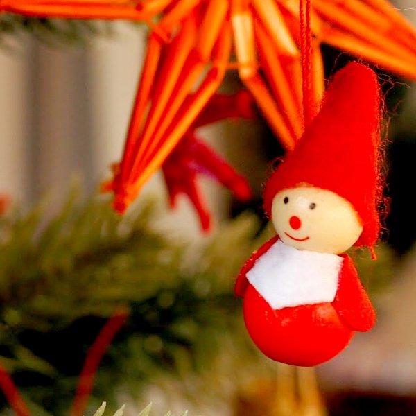 [Kimmerle キマール社]クリスマス 木製オーナメント サンタミニ 3cm