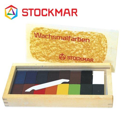【メール便可】[Stockmar シュトックマー社]蜜ろうクレヨン ブロッククレヨン 16色 木箱