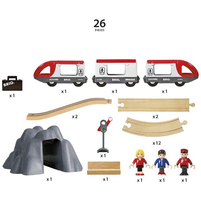 [BRIO ブリオ]レールウェイセット 木製レール8の字スターターセット