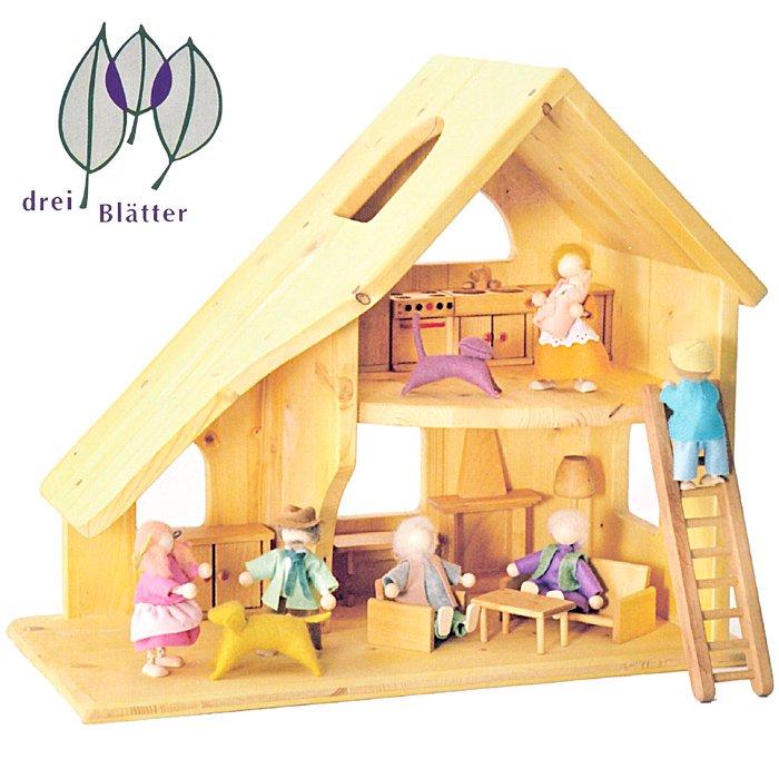 [Drei Blatter ドライブラッター社]ドールハウス 人形の家 2階建 (小) 完成品