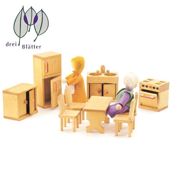 [Drei Blatter ドライブラッター社]ドールハウス 人形の家用 台所セット