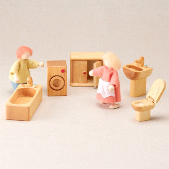 [Drei Blatter ドライブラッター社]ドールハウス 人形の家用 バスルームセット