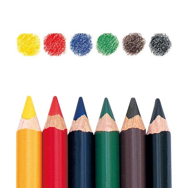 【メール便可】[LYRA リラ社]FERBY ファルビー 色鉛筆 軸カラー 6色セット