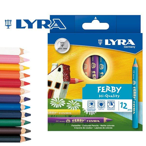 【メール便可】[LYRA リラ社]FERBY ファルビー 色鉛筆 軸カラー 12色セット