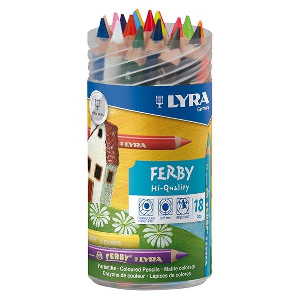[LYRA リラ社]FERBY ファルビー 色鉛筆 軸カラー 18色 PPボックスセット