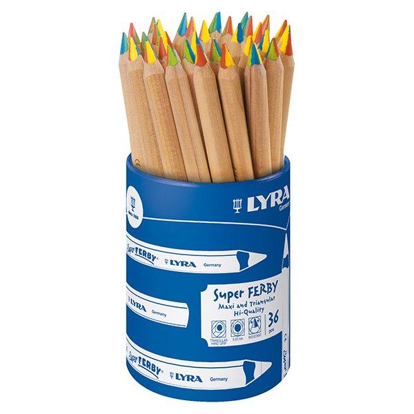 [LYRA リラ社]Super FERBY スーパーファルビー 色鉛筆 4in1 36本 プラスチックケース入り
