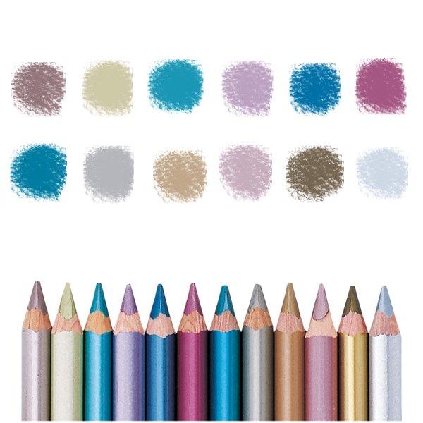 【メール便可】[LYRA リラ社]Super FERBY スーパーファルビー 色鉛筆 軸カラー メタリック12色セット