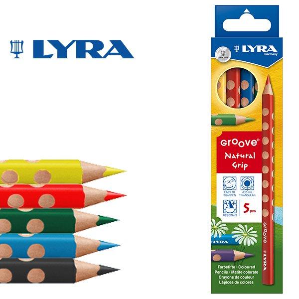 【メール便可】[LYRA リラ社]Groove グルーヴ 色鉛筆 5色セット