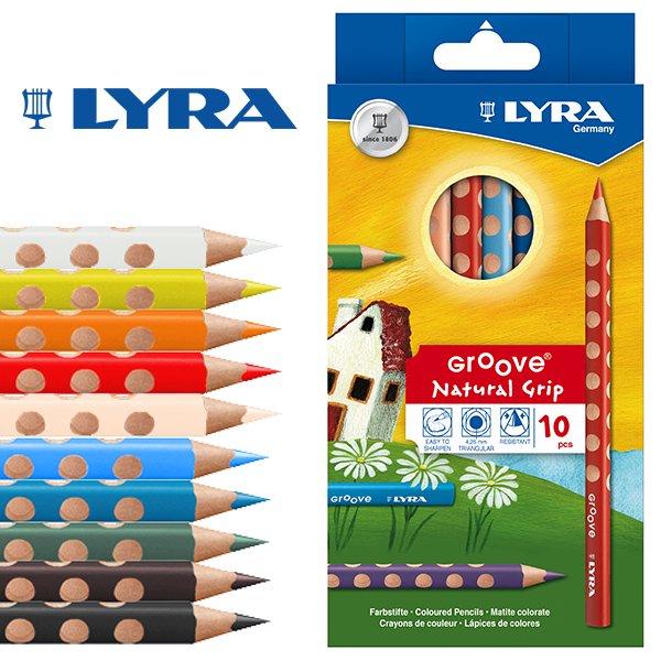【メール便可】[LYRA リラ社]Groove グルーヴ 色鉛筆 10色セット