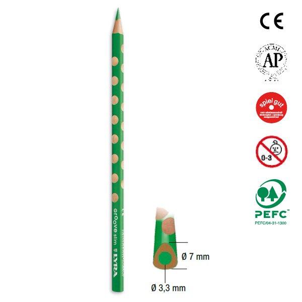 【メール便可】[LYRA リラ社]Groove グルーヴスリム 色鉛筆 12色セット(シャープナー付き)