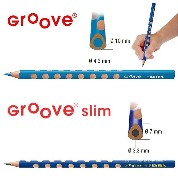 【メール便可】[LYRA リラ社]Groove グルーヴスリム 色鉛筆 24色セット(シャープナー付き)