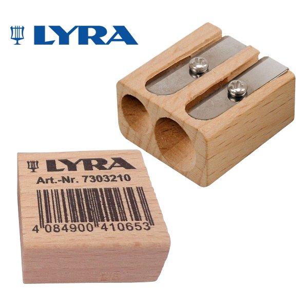 【メール便可】[LYRA リラ社]ブナ材 ツインホール シャープナー