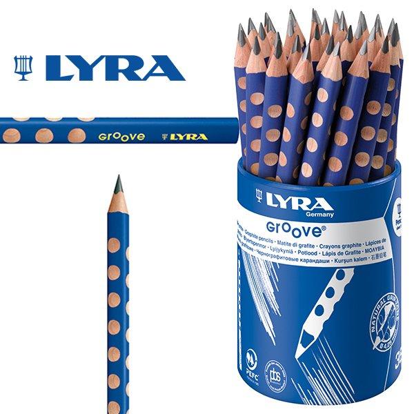 [LYRA リラ社]Groove グルーヴ 鉛筆 Bグラファイト 36本 プラスティックケース入り