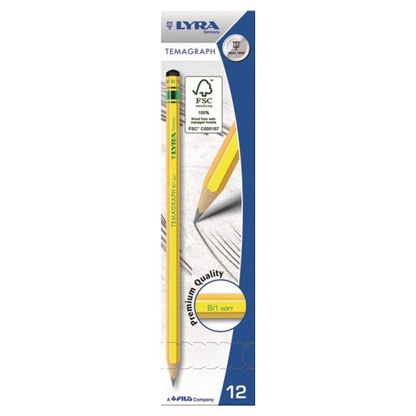【メール便可】[LYRA リラ社]Temagraph テマグラフ 鉛筆B 12本入り