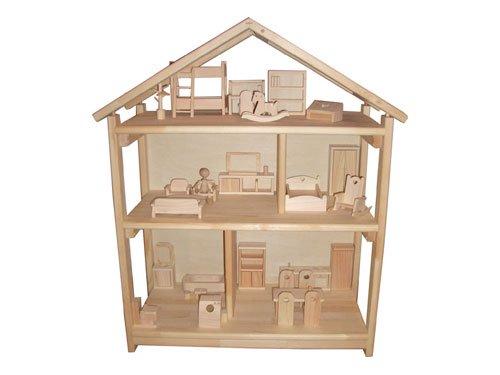 [木遊舎]ドールハウス本立て・家具フルセット