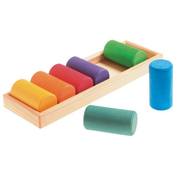 [Grimm's Spiel & Holz Design グリムス社]GM色と形つみき(5種)