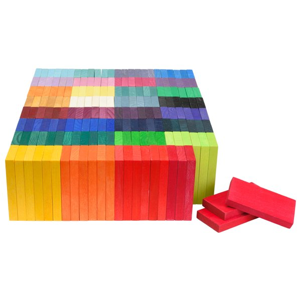 [Grimm's Spiel & Holz Design グリムス社]GMドミノ積み木 紙箱入り 192P
