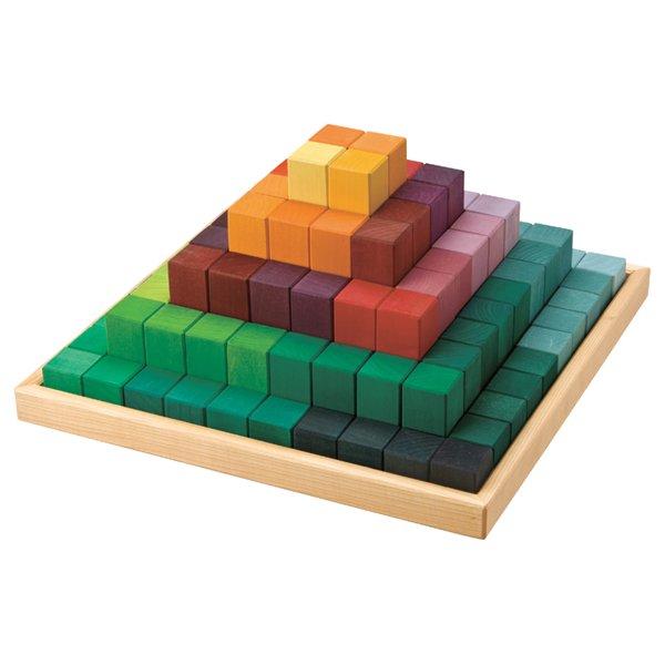 [Grimm's Spiel & Holz Design グリムス社]にじのステップブロック 100P