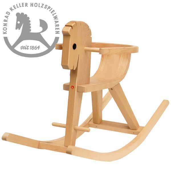 [Konrad Keller ケラー社]枠付木馬のペーター 白木 名入れセット