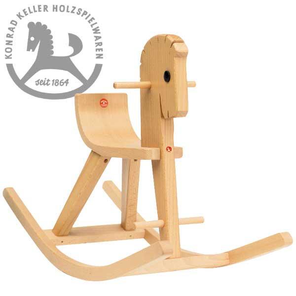 [Konrad Keller ケラー社]木馬のペーター 白木 名入れセット