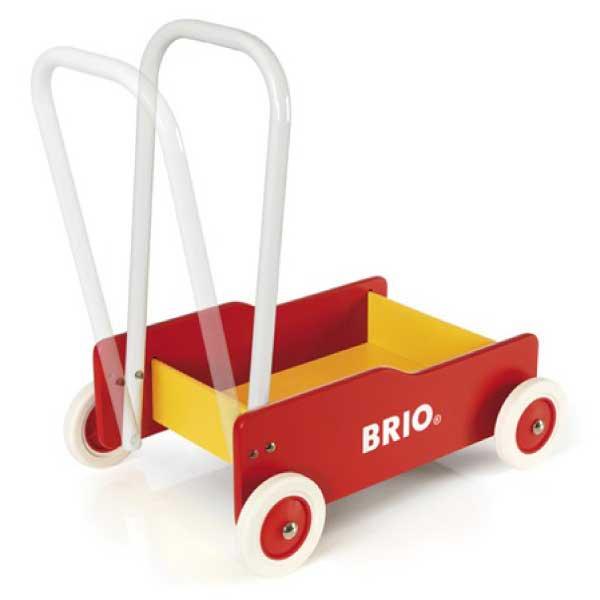 [BRIO ブリオ]手押し車(赤)名入れセット