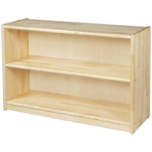 [ブロック社]白木棚<小>背板付