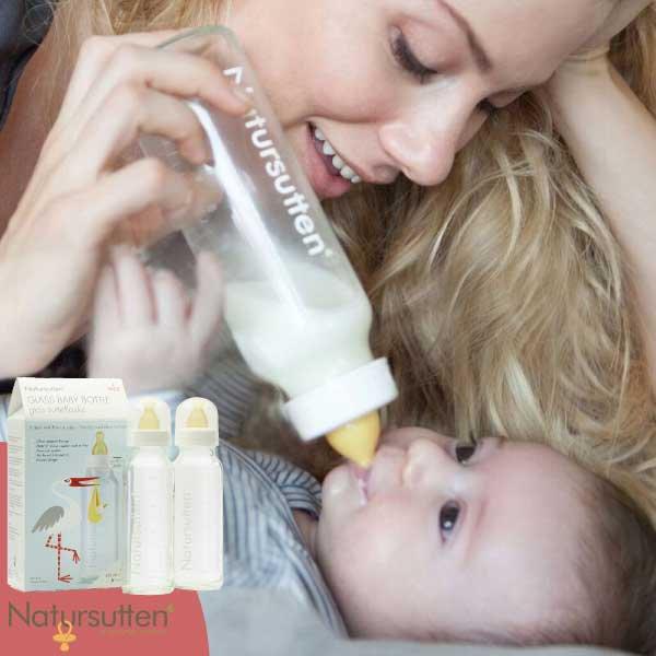[ Natursutten ナチュアスッテン ] ガラス哺乳瓶 2本セット ミルクボトル