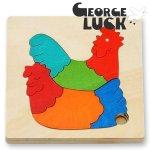 [George Luck ジョージラック]木製グローアップパズル にわとり