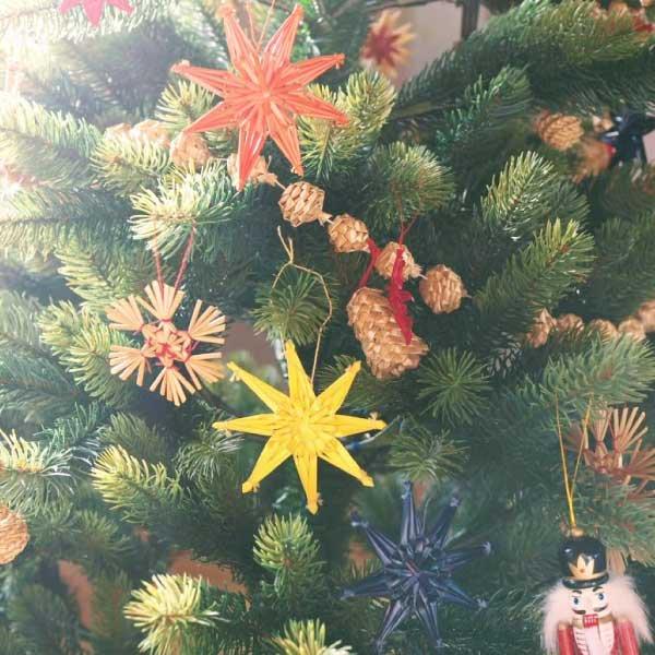 [Kimmerle キマール社]クリスマス ストローオーナメント Wハート