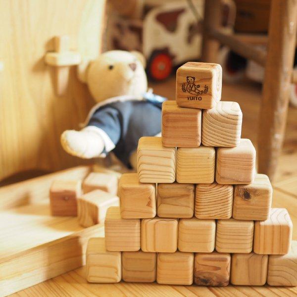 [eurobus ユーロバス]木製赤ちゃん にぎにぎつみき 24P 木箱入 名入れセット