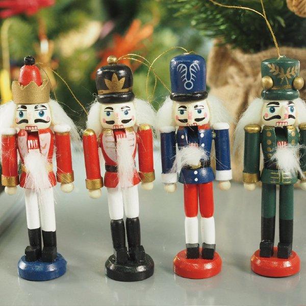 [Kimmerle キマール社]クリスマス 木製オーナメント くるみ割り人形 10cm