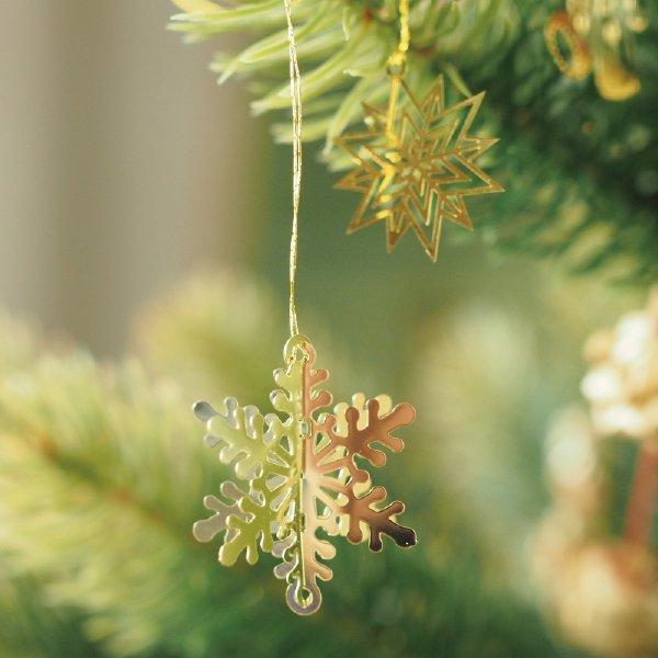 [Kimmerle キマール社]クリスマス ゴールドオーナメント 立体 雪の結晶  3cm