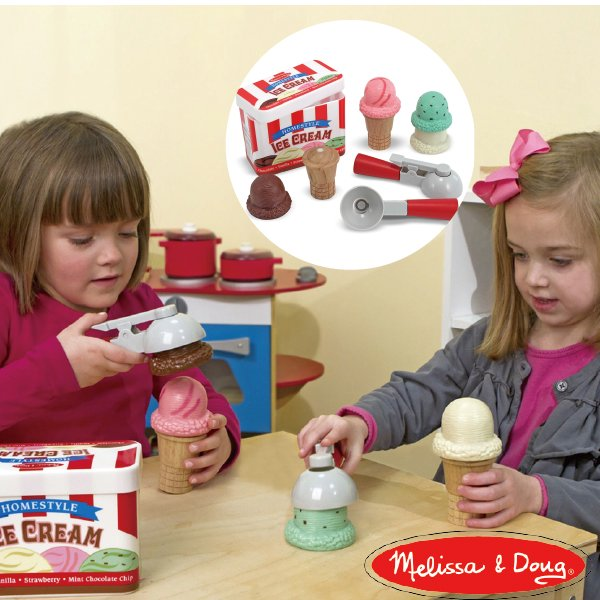 [Melissa & Doug メリッサ&ダグ]アイスクリーム コーン プレイセットおままごと