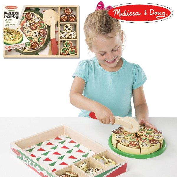 [Melissa & Doug メリッサ&ダグ]木製 ピザパーティー おままごと
