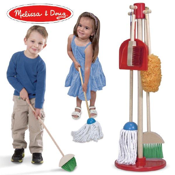 [Melissa & Doug メリッサ&ダグ]お掃除道具セット おままごと