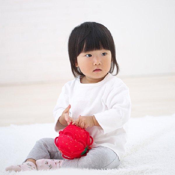 [SHAOOL シャオール]わっかボール ミニ りんご 布製ガラガラ