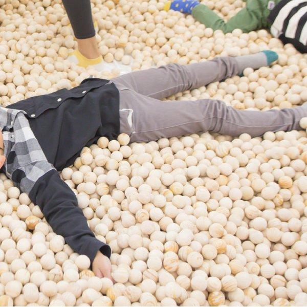 [IKONIH アイコニー ] 木球 丸型 4cm 700個セット 木の玉 木のたまご ボールプール