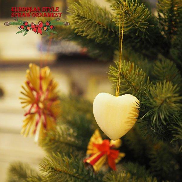 [Kimmerle キマール社]クリスマス 木製オーナメント 手彫りの白木ハート