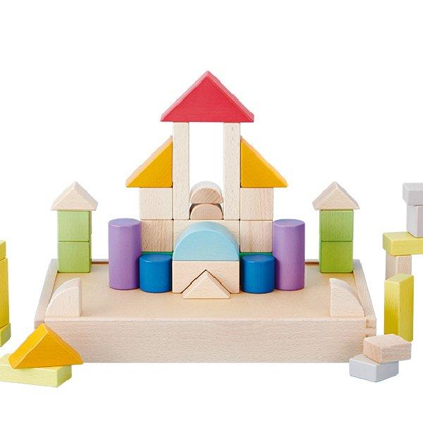 [Ed.inter エドインター]  GENI My First Blocks Tsumin -Color-  名入れセット 積み木 カラー 54P
