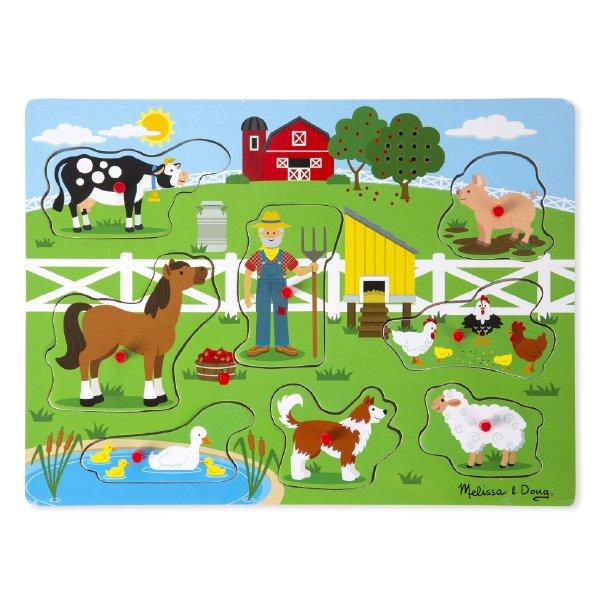[Melissa & Doug メリッサ&ダグ]木製サウンドパズル マクドナルド農場
