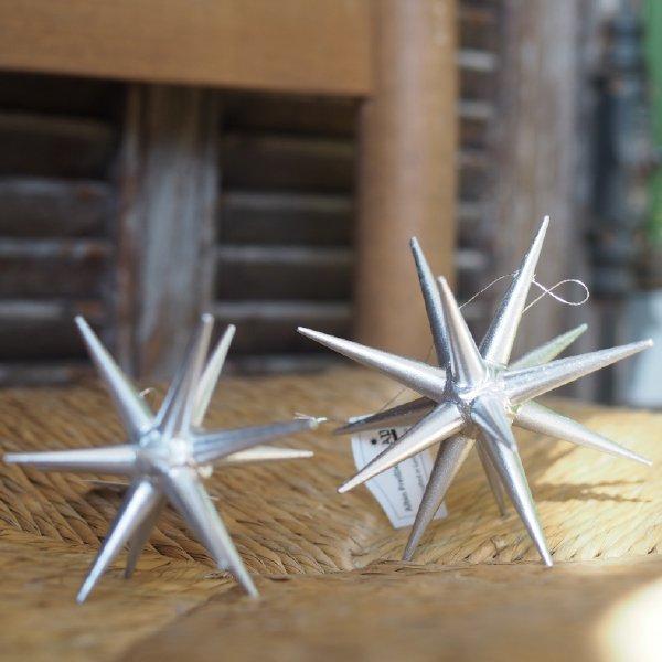 [ Albin preissler アルビン・プライスラー ] 立体星のオーナメント ベツレヘムの星 銀の星 立体 大 3D 木製オーナメント