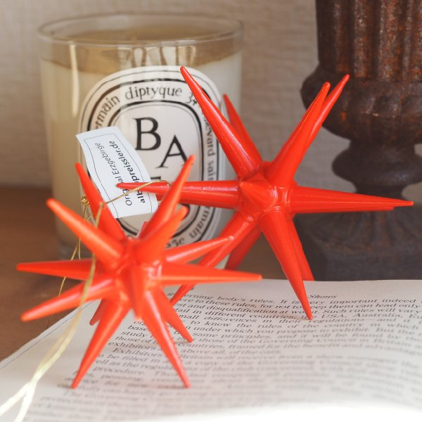 [ Albin preissler アルビン・プライスラー ] 立体星のオーナメント ベツレヘムの星 赤い星 立体 大 3D 木製オーナメント