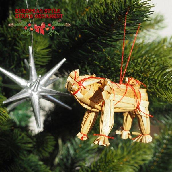 ストローオーナメント ラッキーピッグ クリスマス