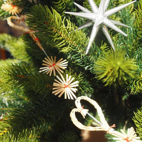 ストロー ガーランド 180cm ハートと星 クリスマス オーナメント